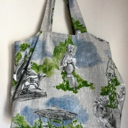 Linen tote bag made in France