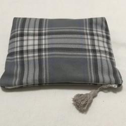 Pochette tissu écossais